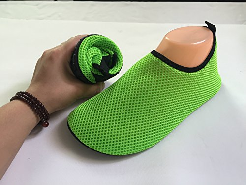 ChicWind Schnell Trocknende Mesh Slip On Socken Wasserdichte Athletische Wasserschuhe Grün