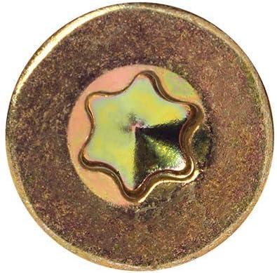 PARCO Spanplattenschrauben 3,0x12mm TX10 Vollgewinde Senkkopf gelb-verzinkt 1000 St/ück