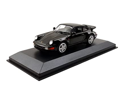 Porsche 911 Turbo (964), black, 1990, Model Car, Ready-