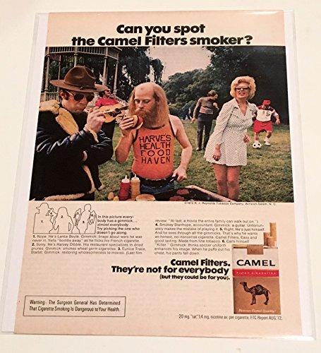 1973 Camel Filters Cigarette Magazine Print Advertisement