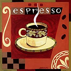 Italian Espresso by Jennifer Brinley Art Print, 10 x 10 inches