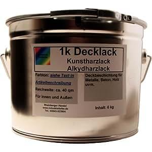 Resina Deck barniz, barniz, acrílico Resina, RAL 6011Reseda Verde Brillante, 6kg