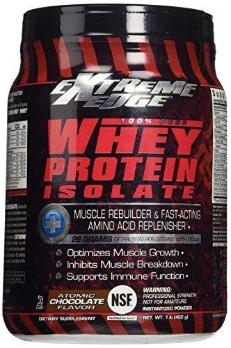 BlueBonnet Extreme Edge Whey Protein Isolate Powder, Atomic Chocolate, 1 Pound by Blue Bonnet