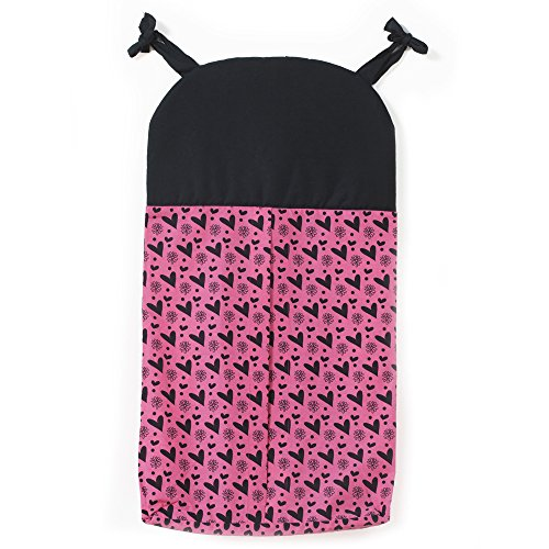 UPC 848284004648, One Grace Place Sassy Shaylee Diaper Stacker, Black and Pink
