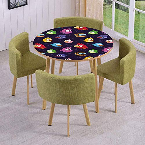 (SINOVAL Fashion Round Table/Wall/Floor Decal Strikers/Removable/Angry Flying Birds Figure with Various Expressions Game Toy Kids Babyish Artsy)