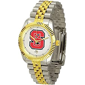 NCSU NC State Wolfpack Men's Two Tone Gold Dress Watch