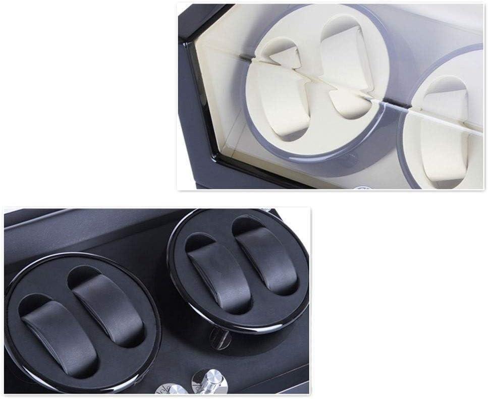 MAYAN Setzen Sie den Aufbewahrungsbehälter der Uhr, automatische Uhr Transfer, mechanische Uhr, Start Rotation, drehen Meter, Shaker, Turn Meter Mode (Color : Black2) Black1
