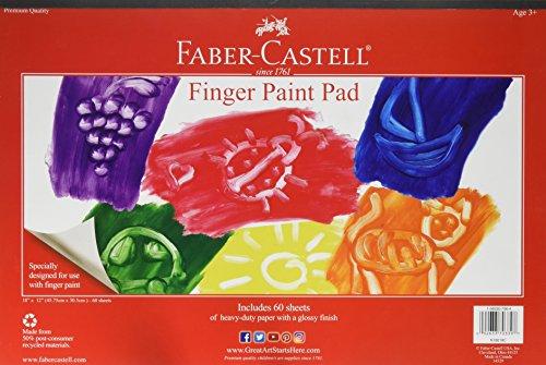 Faber Castell Finger Paint Paper Pad - Fingerpaint Paper for Kids - 60 Sheets (12 x 18 inches)