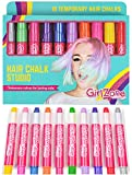 GirlZone: Hair Chalk Set For Girls, 10 Piece Temporary Hair Chalks Color