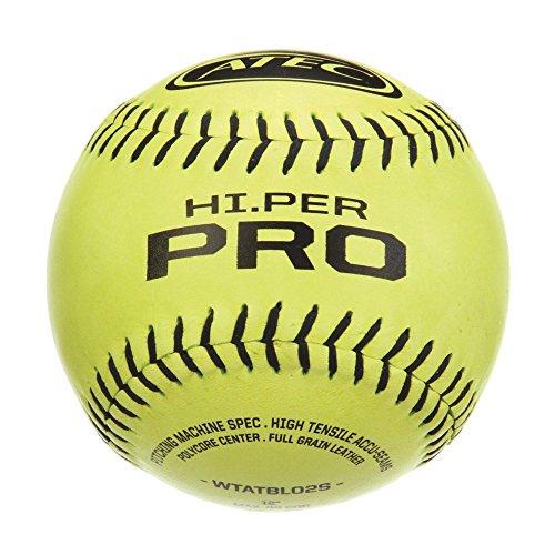 12' Optic Softball - ATEC HI Per Pro Softball (Pack of 12), Optic Yellow