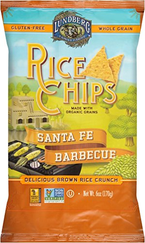 Lundberg Family Farms Rice Chips, Santa Fe Barbeque, 6 Ounce (Pack of (Santa Fe Bbq)