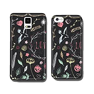Hand Drawn Vintage Chalkboard Nature Elements cell phone cover case iPhone5