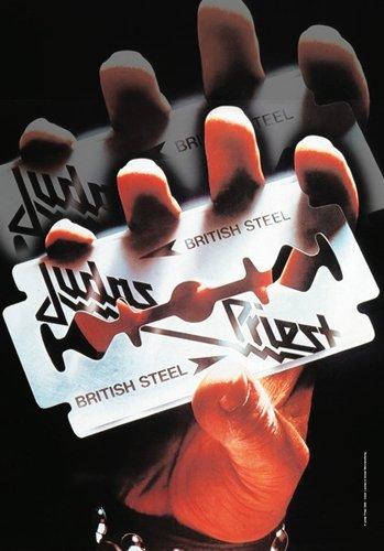 Judas Priest Razor Blade Large Fabric Poster / Flag hr