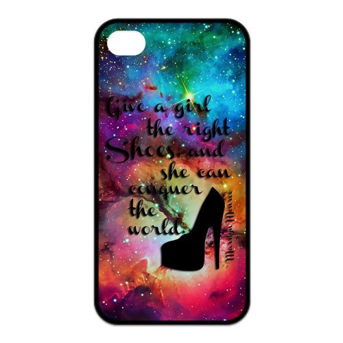 Fayruz- Marilyn Monroe Quotes Protective Hard TPU Rubber Cover Case for iPhone 4 / 4S Phone Cases A-i4K522