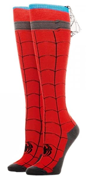 5a3263a880a Image Unavailable. Image not available for. Color  Marvel Comics Spider-Man  Knee High Socks With Cape