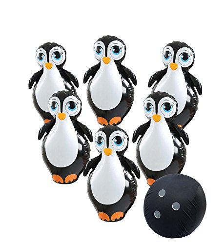 Etna Giant Inflatable Penguin Bowling Set. Jumbo size, Six 27