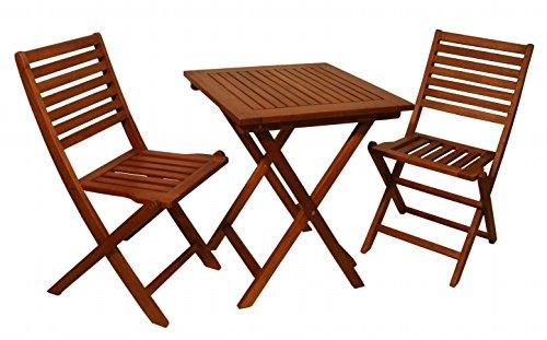 Arboria mesa de jardín – eucalipto, el juego incluye 2 sillas de ...