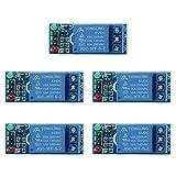 Relay Module, UEB 2 pcs/5pcs 1 Channel DC 5V Relay Switch Module for Arduino Raspberry Pi ARM AVR (5V - 5 Pcs)