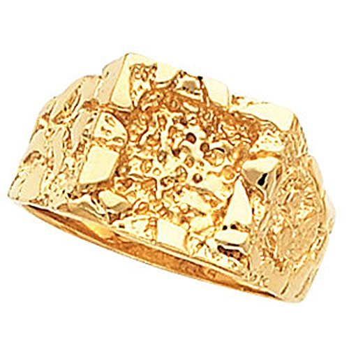 11.00X13.00 mm Men's Solid Nugget Ring Mounting in 14k Yellow Gold ( Size 10 ) 14k Yellow Gold Mens Mounting