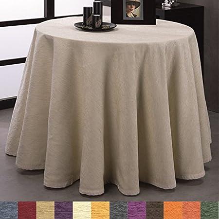 Falda para Mesa Camilla Redonda Modelo Calpe, Color Azul, Medida 120cm de diámetro: Amazon.es: Hogar