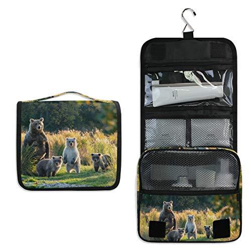 AUUXVA Hanging Toiletry Bag Animal Bear Travel Cosmetics Bag Portable Toiletry Kit for Women ()