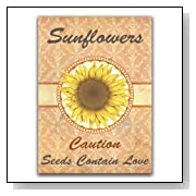 10 Individual Seed Favor Packets (Sunflowers) Great For Weddings!