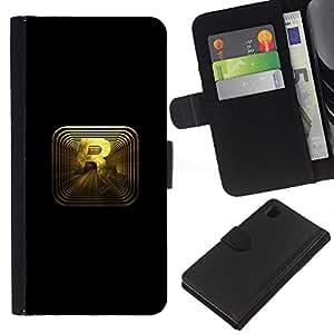 Sony Xperia Z1 L39 - Dibujo PU billetera de cuero Funda Case Caso de la piel de la bolsa protectora Para (R R0Ckstar Gaming)