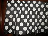 Cheap Black White Large Polka Dot Minnie Mickey Mouse cotton fabric curtain Valance 42″ by 13″