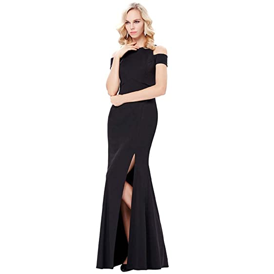 Long Black Evening Dresses New Sexy Tank Sleeveless High Slit Formal Dress Long Prom Evening Gowns