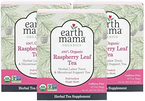 Tea Bags: Earth Mama Raspberry Leaf Tea Bags
