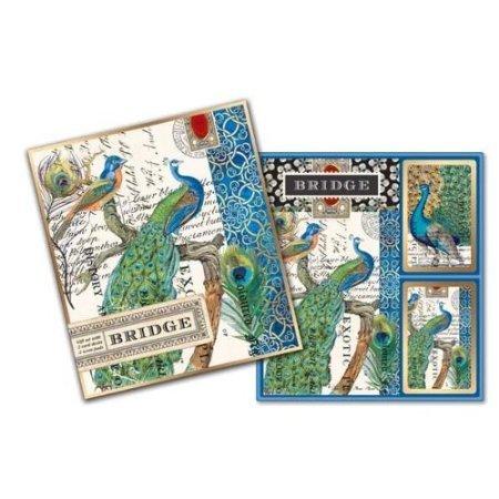 Michel Design Works Peacock Bridge Card Gift Set