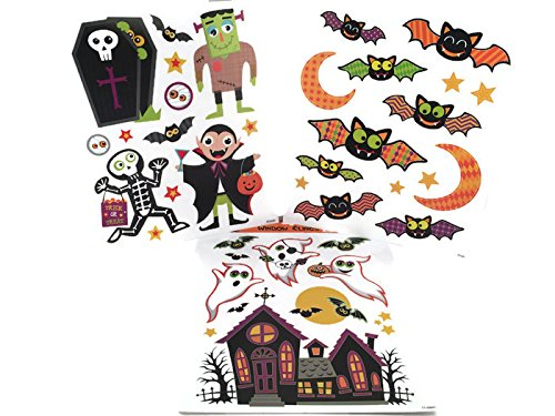 Custom Bundle Haunted House Theme Halloween Window Clings - 3
