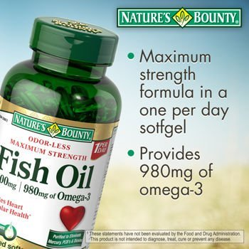 Nature's Bounty Maximum Strength Fish Oil 1400mg 130 Softgel