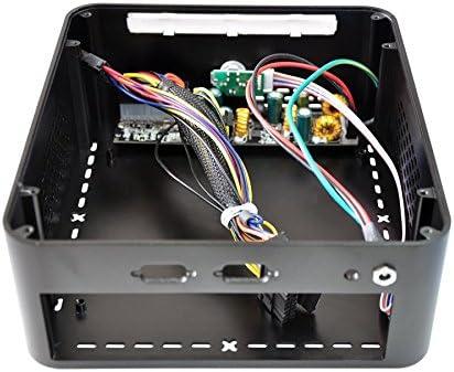 Slim Mini Computer Case Black Aluminum Mini ITX by Integer Computers Model PrintCase A-Q5