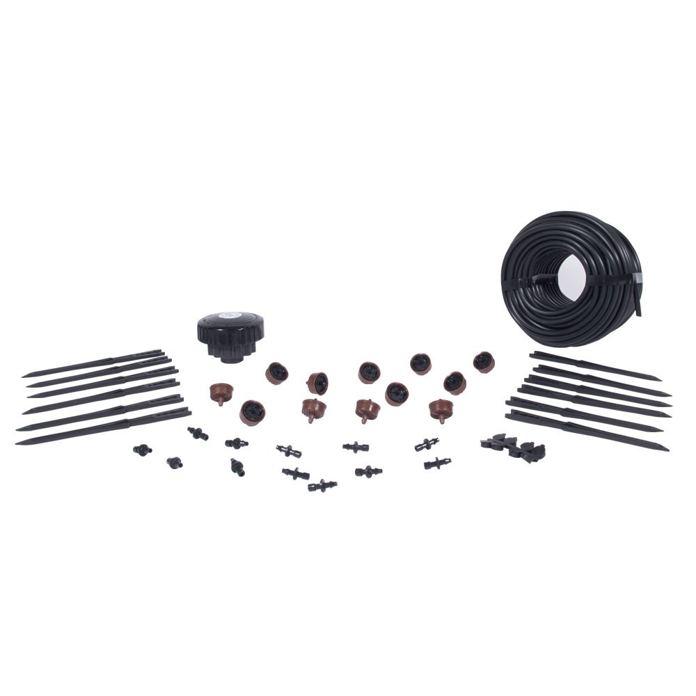Home Grow Kit - Great Starter Hydroponics Drip Irrigation Kit! - Includes Tubing, Emitters, Manifold, Etc. (Plastic Pots Sold Separately)