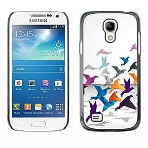 Caucho caso de Shell duro de la cubierta de accesorios de protección BY RAYDREAMMM - Samsung Galaxy S4 Mini i9190 - Grulla de origami