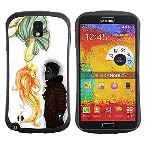 "Hypernova Slim Fit Dual Barniz Protector Caso Case Funda Para Samsung Note 3 [Muchacho lindo de San Valentín Dibujo Amor""]"