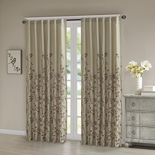 iving Room, Modern Contemporary Fabric Floral Curtains For Bedroom, Tunisia Print Rod Pocket Window Curtains, 50X84, 1-Panel Pack (Contemporary Curtain Fabric)