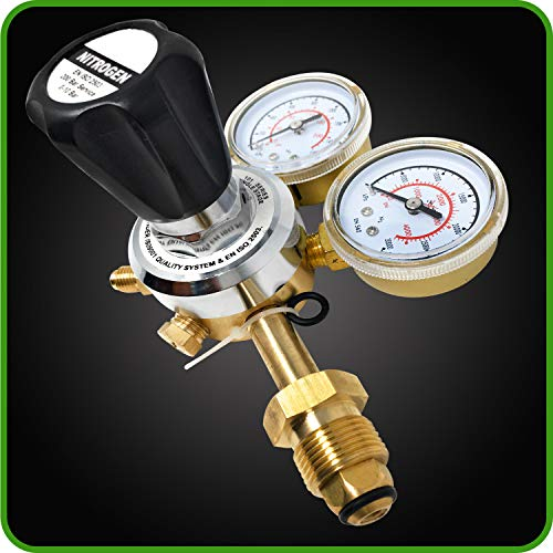 CGA580 Inlet Connection and 1//4-Inch Male Flare Outlet Connection Adjustable Gas Regulator HVAC Durable Brass Accurate and Dependable MANATEE Nitrogen Regulator 3000 PSI