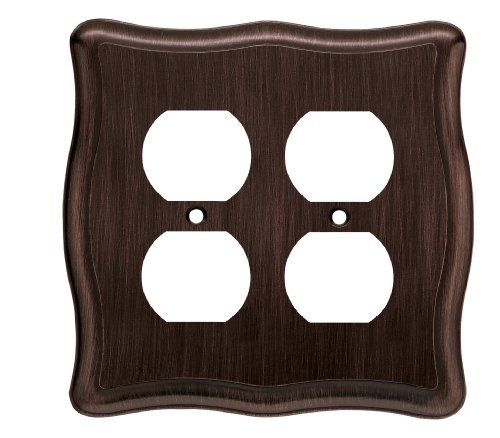 Liberty Hardware 64294 Victorian Double Duplex Wall Plate, Venetian Bronze