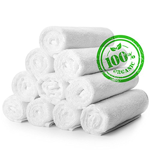 Kitchen Towels – Dish Towels – Bar Towels – Tea Towel – Cloths for Dishes – Kitchen Towel Set 10 Pc (13.7x13.7 inches) – Pure Cotton – Ultra Soft – Super Absorbent – Fast Drying – Easy Machine Washin