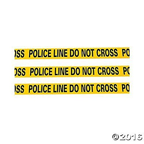Fun Express Caution Tape - Police Line Do Not Cross - 20 ft by Novelty (Nypd Decorations)