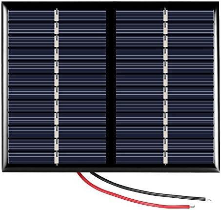 Decdeal Solarpanel Solarmodul Solarzelle Photovoltaik mit Kabel 1.5W 12V