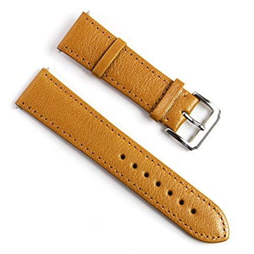 Handmade Vintage 18mm Sheepskin Leather Watch Band Strap Beige