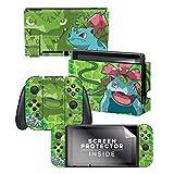 Controller Gear Nintendo Switch Skin & Screen Protector Set - Pokemon - 'Bulbasaur Evolutions Set 1' - Nintendo Switch