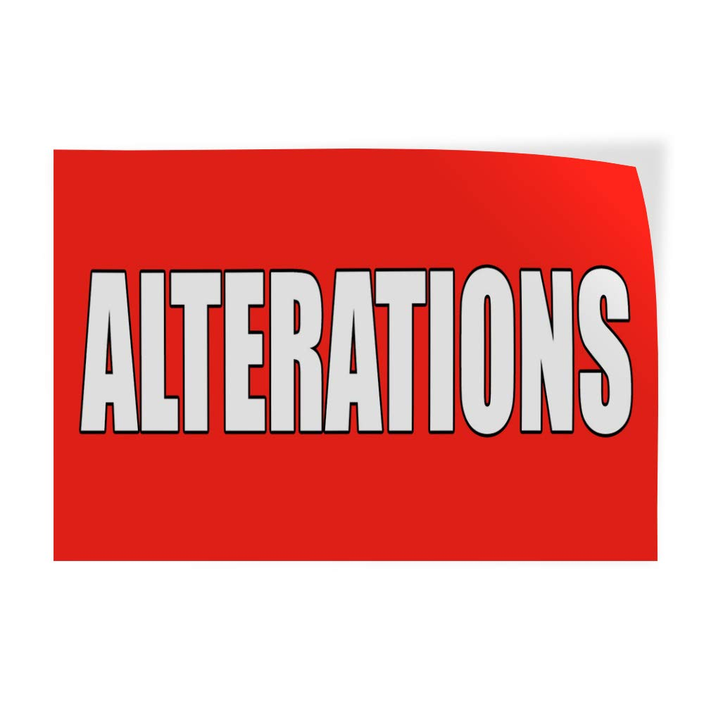 Amazon com decal sticker alterations red white business alteration outdoor store sign red multiple sizes available 66inx44in one sticker office