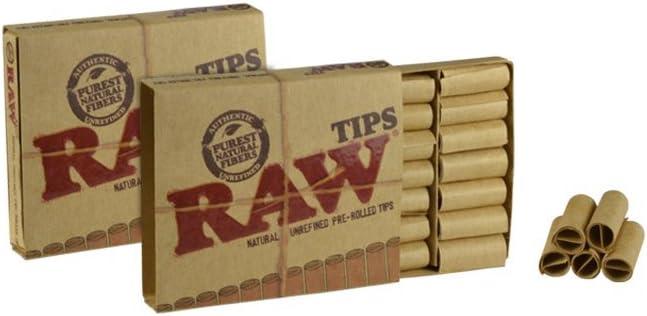 21x Filtres en Carton pré roulés Tips Classic RAW Tips 60x15mm