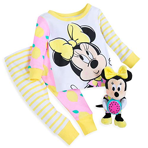Disney Minnie Mouse PJ PALS and Plush Rattle Set for Baby Size 18-24 MO Multi