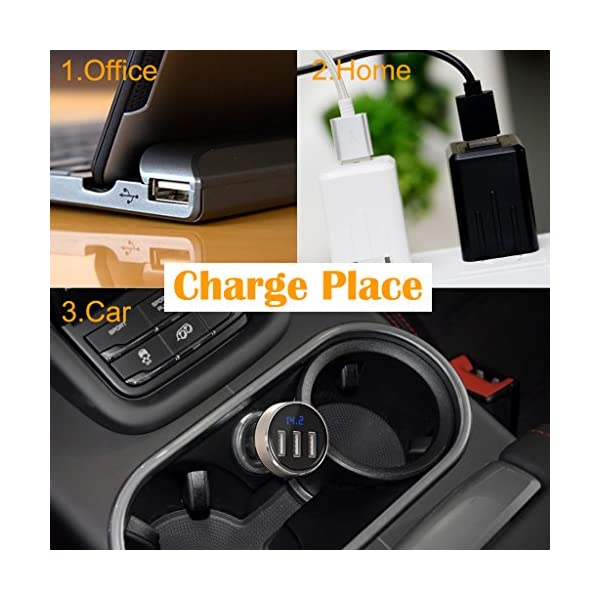 Car Vacuum Cleaner EFORCAR Cordless WetDry Vacuum Cleaner With 2200mAH Rechargeable Battery 3KPA Powerful Suction Hand Held Vacuum Cleaner With Carry Bag12V 100W Gold