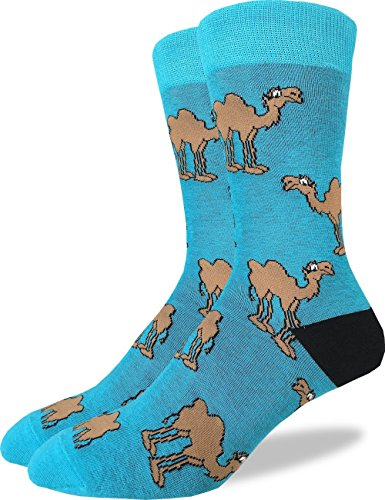 Good Luck Sock Men's Camel Crew Socks - Green, Adult Shoe Size 7-12